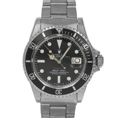 FS- Rolex 1680 RED Sub Box Papers Single Red Submariner Mark V Feet First