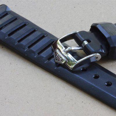 Swiss Tropic 18mm with Heuer buckle for Heuer Carrera
