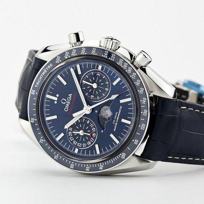 fsot - Omega Speedmaster - Blue Moonphase - 44.25mm - Master Co-Axial ( new / 2019 )