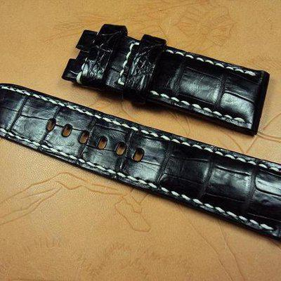 FS:Panerai custom straps A2011~2021: Brown vintage & padded deployant croco straps.Cheergiant straps