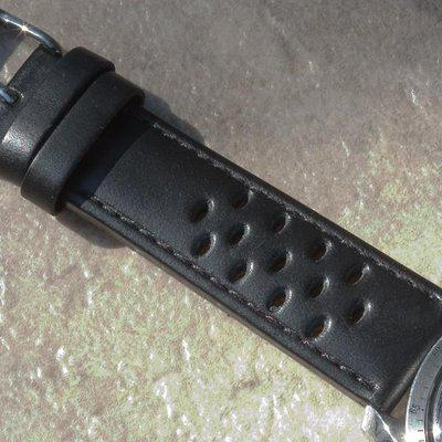 Matte black 20mm leather rally straps $29.99 offer free ship