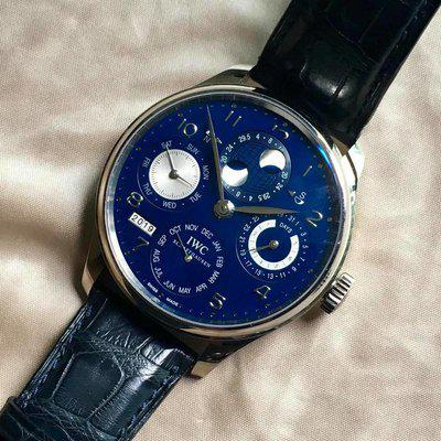 FS: IW503203 IWC Portuguese Perpetual Calendar White Gold Blue Dial TOP MINT CONDITION cheapest onli