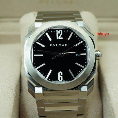 FSOT:MINT Bvlgari OCTO AUTOMATIC BLACK DIAL STAINLESS STEEL BRACELET 2019 WARRANTY