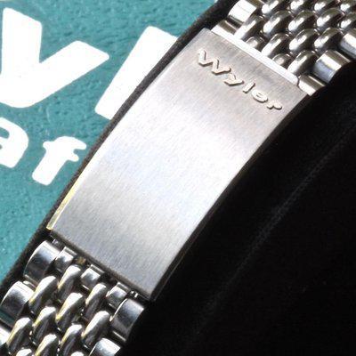 Wyler beads of rice bracelet NOS 1960s for divers, chronos