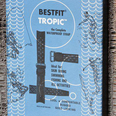 Dealer's display box of 12 Swiss Tropic bands best styles