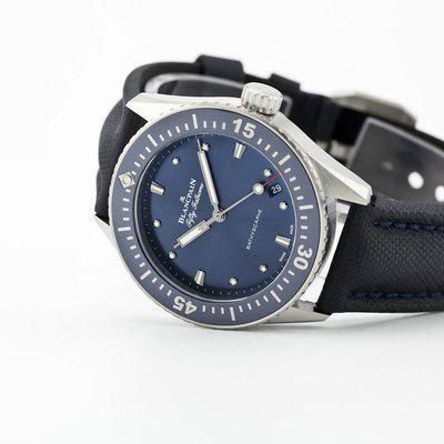 fsot - Blancpain Fifty Fathoms Bathyscaphe - Blue 38mm - 5100-1140-O52A ( brand new )