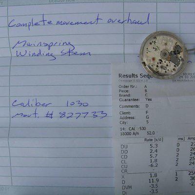 FS: Vintage Rolex Submariner Explorer caliber 1030 Movement 6536 6536/1 6538 6610 etc