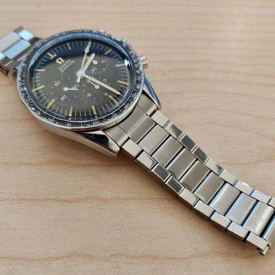Flat-link Omega Speedmaster 19mm or 20mm complete bands