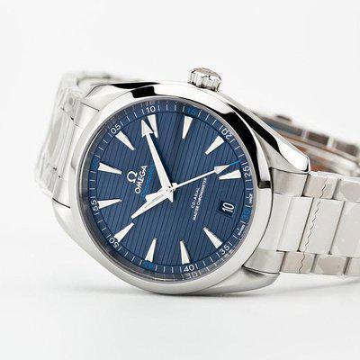fsot - Omega Aqua Terra 8900 - Blue / Bracelet - 220.10.41.21.03.001 ( brand new )