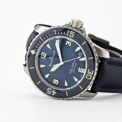 fsot - Blancpain Fifty Fathoms - Blue - Titanium 45mm - 5015-12B40-O52A ( brand new )