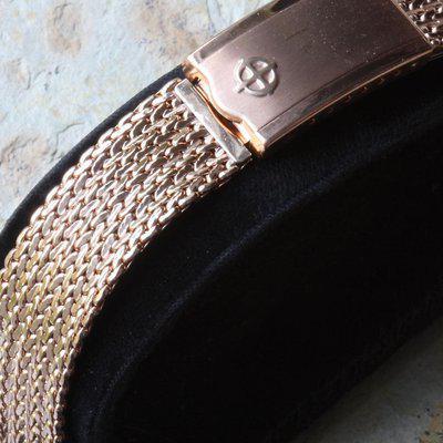 Rose gold Zodiac 1960s mesh bracelet by JB Champion USA