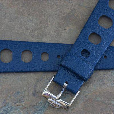 Tropic Sport 22mm big hole black, blue & Heuer buckle option
