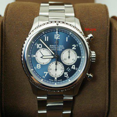 FSOT:Breitling NAVITIMER 8 B01 CHRONOGRAPH AUTOMATIC BLUE DIAL 43MM WARRANTY FULL SET