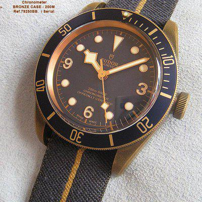FS-TUDOR Black Bay Bronze Bucherer Special Edition Blue dial  ref.79250BB i serial. Double TUDOR Boxset, small diver tudor menu booklet and card dated  2017 $3995+S
