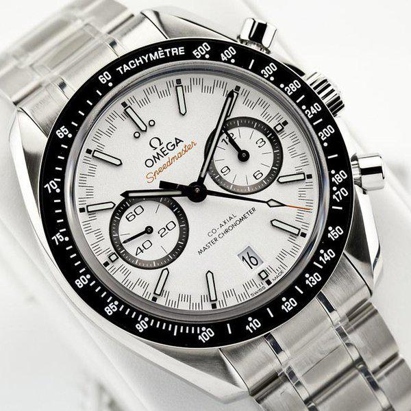 fsot - Omega Speedmaster - Racing Master Co-Axial 44.25mm - White Dial ( new / 2019 ) 7