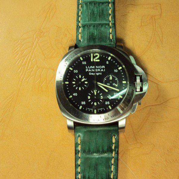 FS:Some Panerai custom straps A520~529 include green & purple crocodile belly strap.Cheergiant straps 23