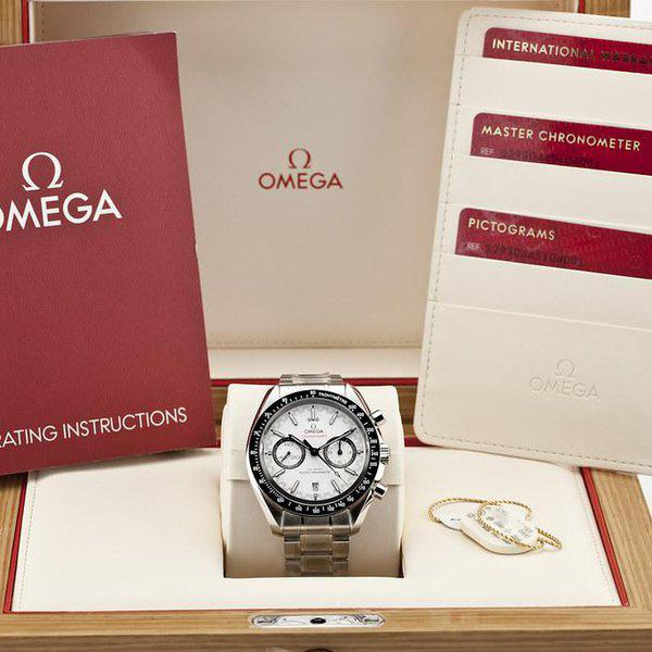 fsot - Omega Speedmaster - Racing Master Co-Axial 44.25mm - White Dial ( new / 2019 ) 12