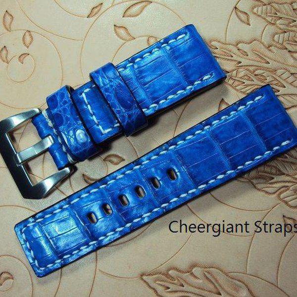 FS:A2250~2260 Panerai custom straps include some vintage cowskin straps & 3 croco straps.Cheergiant straps 14