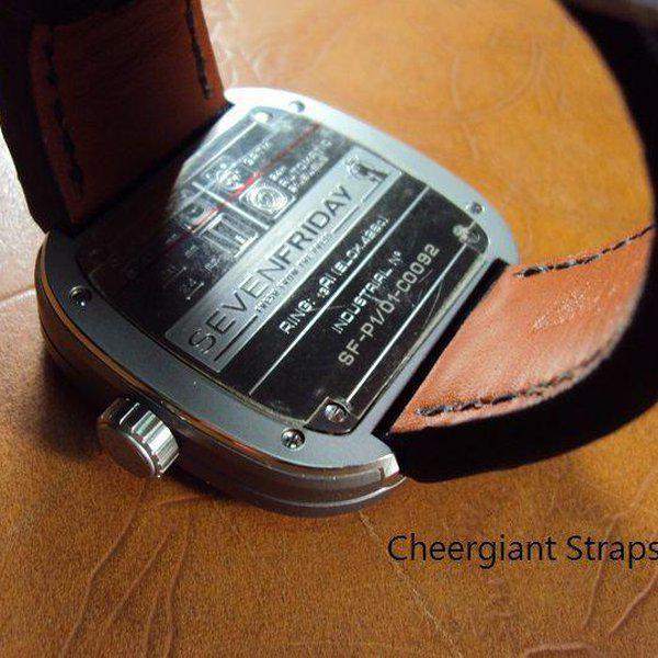 FS:Some SEVENFRIDAY & Corum croco strap & Tissot T-Race Touch AnaDigi leather strap.Cheergiant strap 5