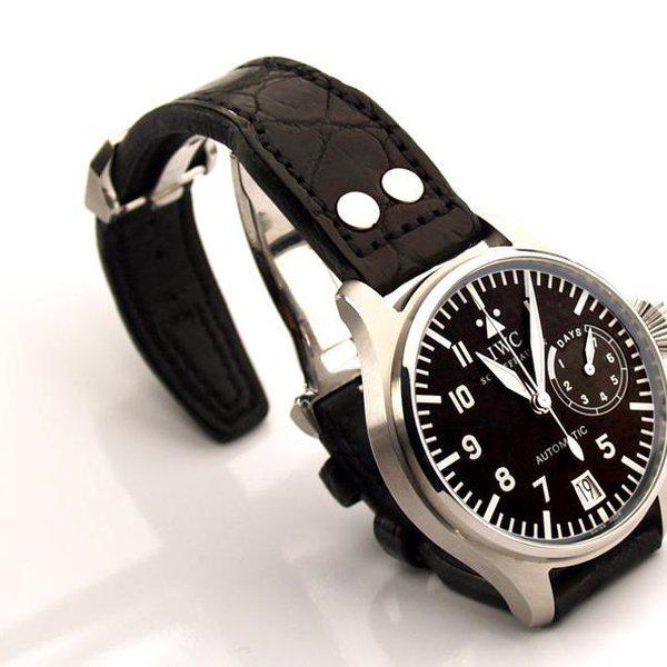 FS - Custom Pilot Aviator Style Straps in Alligator, Leather & Canvas 7