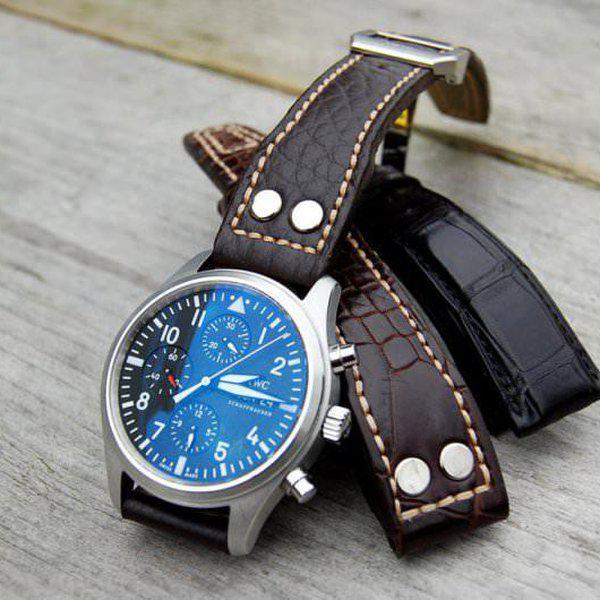 FS - Custom Pilot Aviator Style Straps in Alligator, Leather & Canvas 6