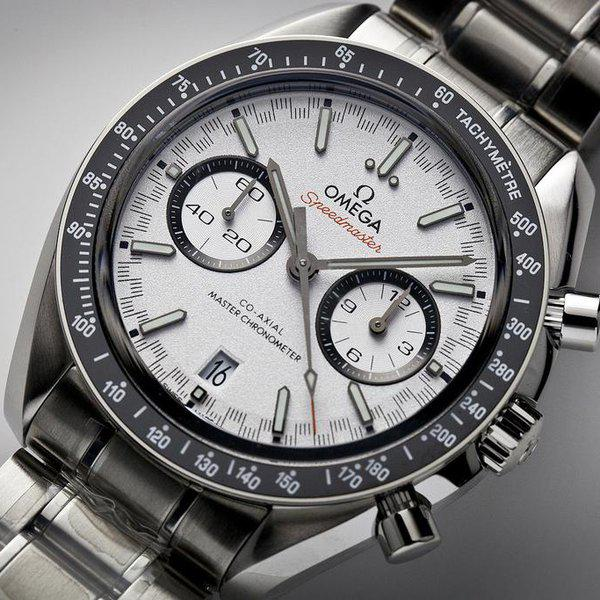 fsot - Omega Speedmaster - Racing Master Co-Axial 44.25mm - White Dial ( new / 2019 ) 4
