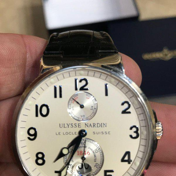 FS: Ulysse Nardin Maxi Marine Stainless Steel Watch 263-66 41MM leather Band 1