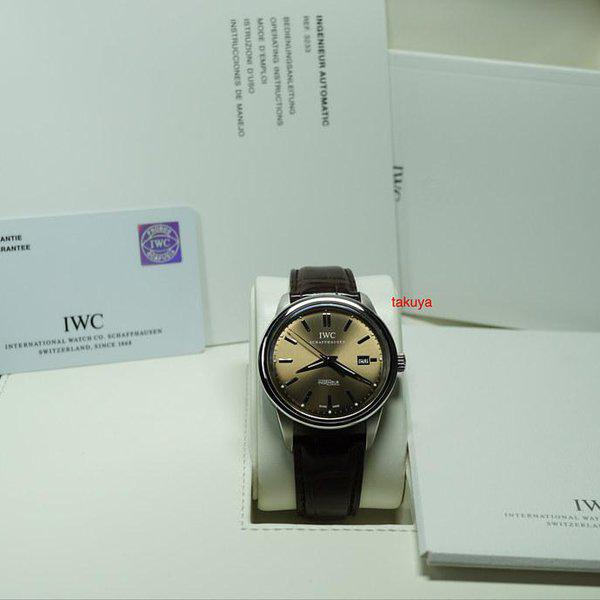 FSOT:IWC Ingenieur AUTOMATIC IW323311 LIMITED EDITION CHOCOLATE DIAL STEEL FULL SET 2