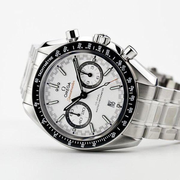 fsot - Omega Speedmaster - Racing Master Co-Axial 44.25mm - White Dial ( new / 2019 ) 1