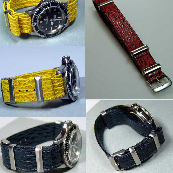 Shark NATO Leather Straps Hand made by Jurgens Germany FS 1