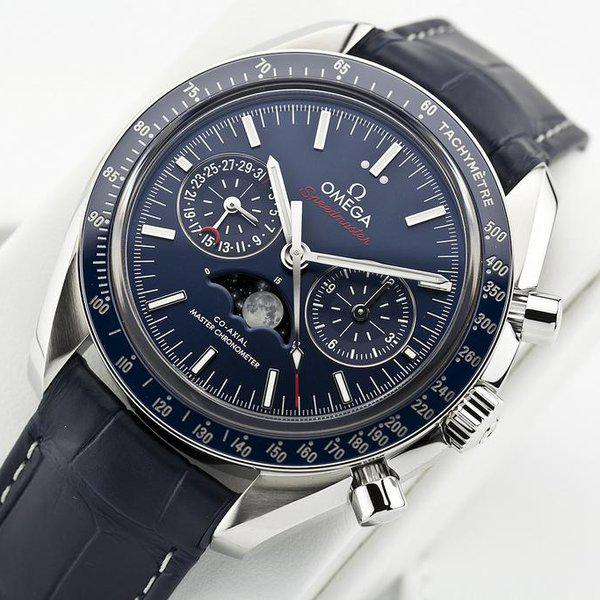 fsot - Omega Speedmaster - Blue Moonphase - 44.25mm - Master Co-Axial ( new / 2019 ) 5