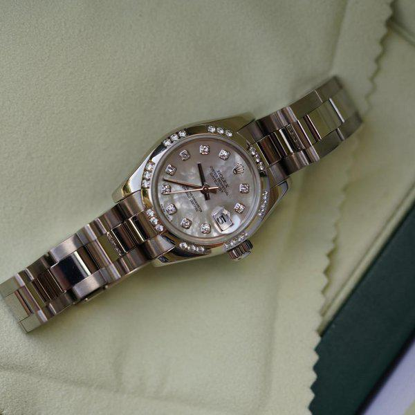 FS:Rolex Datejust Oyster 179369 White Gold with MOP Diamond dial and Diamond bezel 1