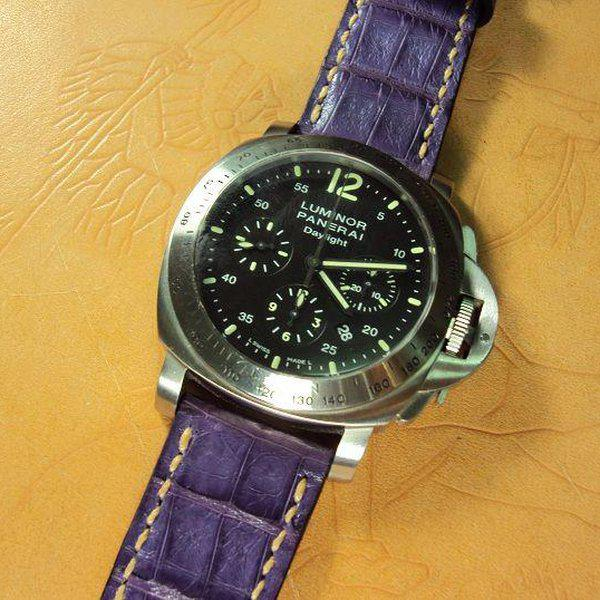 FS:Some Panerai custom straps A520~529 include green & purple crocodile belly strap.Cheergiant straps 27