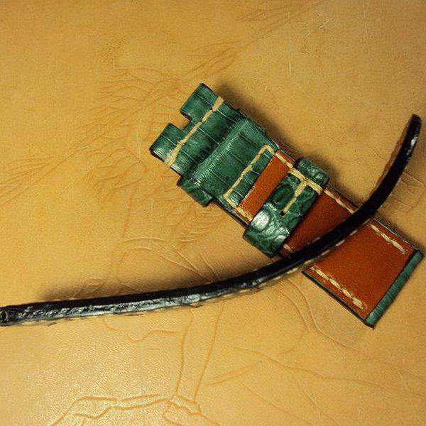 FS:Some Panerai custom straps A520~529 include green & purple crocodile belly strap.Cheergiant straps 25